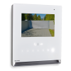 "Full-duplex hands-free door entry monitor with 4.3″ 16/9 touch-screen colour display. Controls with ""Sensitive touch"" technology, LED backlighting and Swipe function. Semi flush-mounted, wall-mounted and desk base installation."